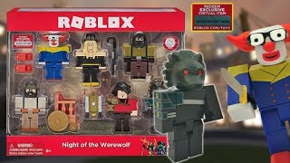 Roblox Toy Werewolf Set Unboxing + Code Item + Stop Motion Animation, Clown Toy