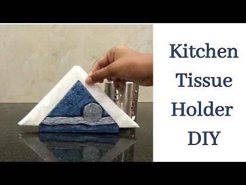 Kitchen Tissue holder DIY/Tissue holder DIY with Cardboard/Best out of Waste/Tissue holder making