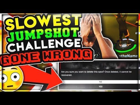 SLOWEST UGLY JUMPSHOT CHALLENGE (GONE WRONG!) LOSER DELETES 2 MYPLAYERS! NBA 2K17