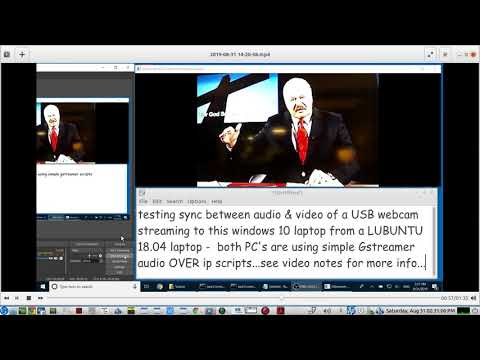 testing the Audio-Video sync of a USB WEBCAM using simple
