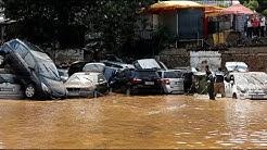 Wetter der Kontraste: Regenfälle fluten Straßen in Athen