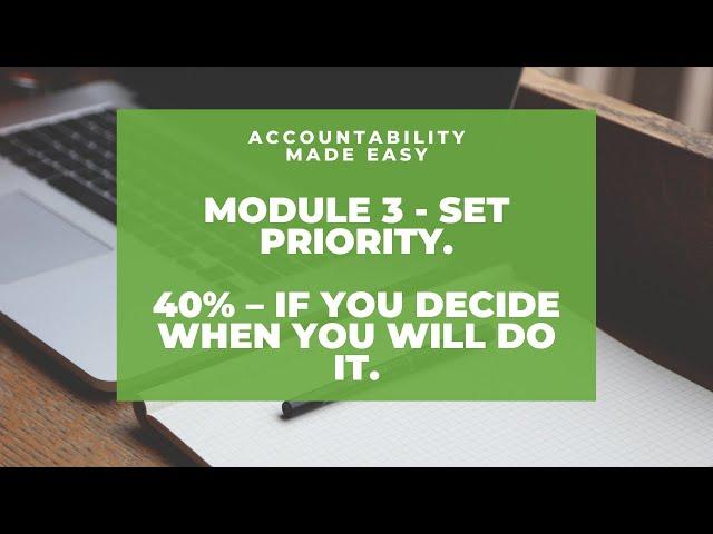 Accountability Made Easy - Module 3