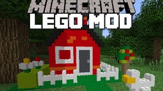 Minecraft GIANT LEGO MOD / BUILD ENDLESS AMOUNTS OF LEGO OBJECTS!! Minecraft