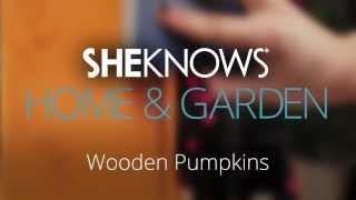 Halloween Wooden Pumpkins