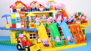 Peppa Pig Lego House Creations With Water Slide Toys For Kids #11