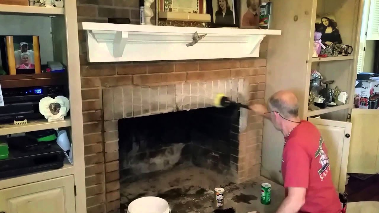cleaning creosotes off brick fireplaces a easy hack youtube
