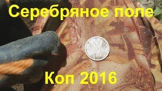 Коп у реки.  Серебряное поле.  Поиск монет 2016.(Нашли интересное поле где были вынесены все медные монеты, а серебряные монеты попались всем. Преодолевали..., 2016-06-26T08:41:34.000Z)