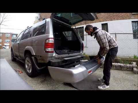 How to remove Rear bumper cover Nissan Pathfinder 00-04