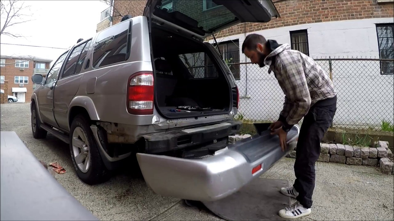 medium resolution of how to remove rear bumper cover nissan pathfinder 00 04