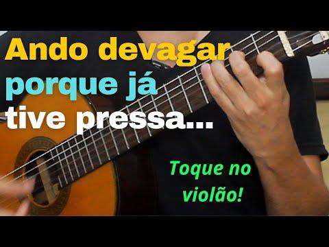 """ALMIR SATER - como fazer o DEDILHADO da música """"Tocando em Frente"""""""
