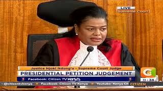 Justice Ndungu dissenting opinion