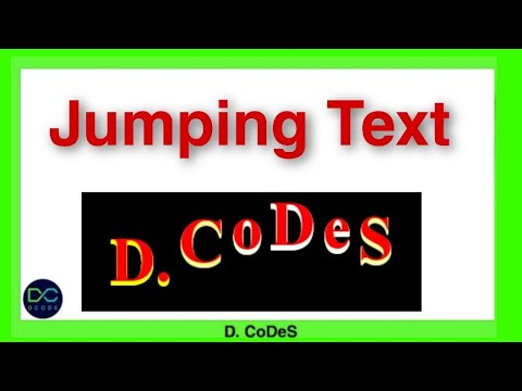 Jumping Text With Html and CSS || D. CoDeS || #code #coding #css #jump