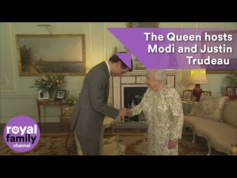 The Queen hosts Narendra Modi and Justin Trudeau at Buckingh