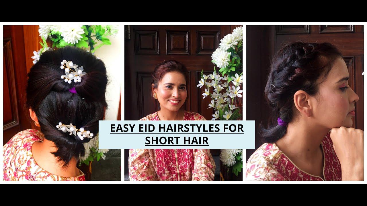 EID HAIRSTYLES- EID 2020-SIMPLE STYLISH SHORT HAIR STYLES - YouTube