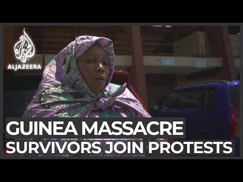 Guinea protests: Massacre survivors rally against President Conde