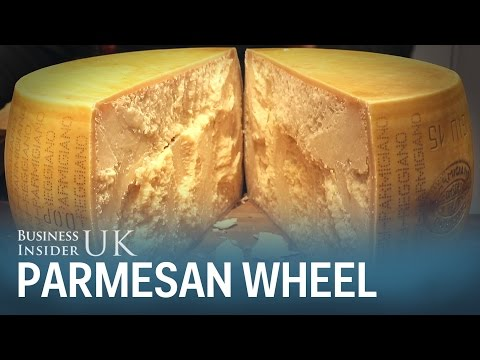 The art of perfectly cracking a £1,200 wheel of Parmesan cheese