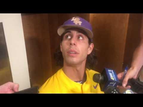 Kramer Robertson after LSU loses College World Series game against Oregon State