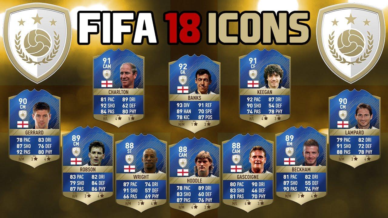 Fifa 18 Icon Spieler