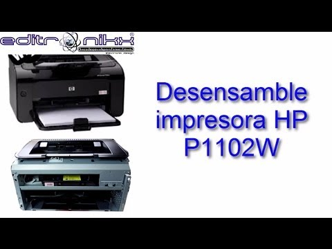 Desensamble Impresora Hp P1102w Youtube
