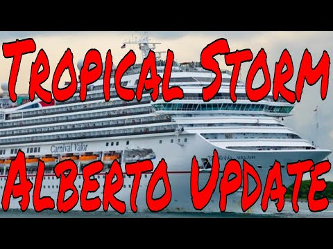 Tropical Storm Alberto Update Cruise Ship News Norwegian Bliss MSC Bellissima Carnival Valor Fantasy