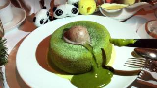 Green Tea Chocolate Fondant With Red Bean Ice-cream