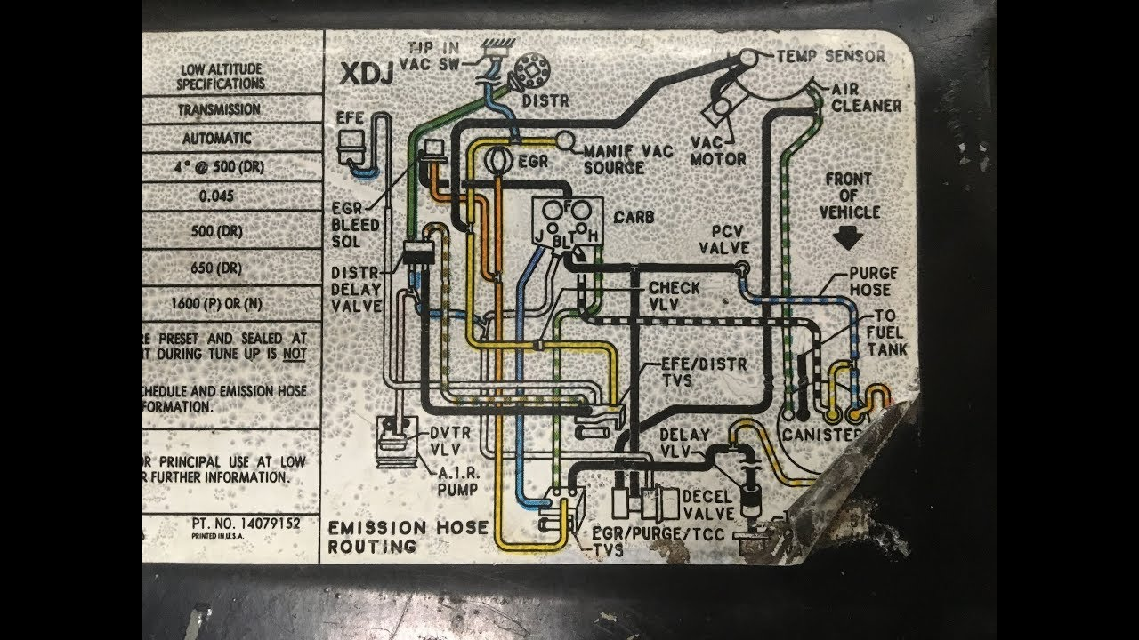 1984 Chevy GMC Vacuum Diagram & Routing Solved!!