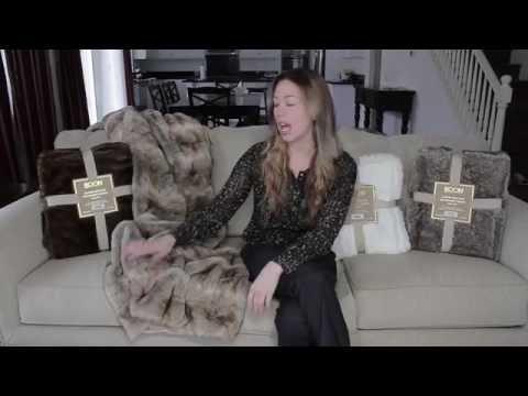 BOON Throw & Blanket Luxury Faux Fur - Polar Bear, White Fang, Otter, Beaver