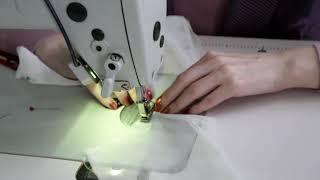 Пошив детского платья из фатина для девочки (1 урок)