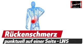 Punktuelle Rückenschmerzen unterer Rücken - Ursachen und Lösung