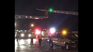 World News  In Toronto, a passenger plane caught fire  Canada