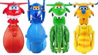 超级飞侠恐龙变形蛋玩具super wings  dinosaur eggs surprise toys anpanman kitchen