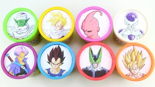Learning Colors with Dragon Ball Z Characters Play Doh Cups