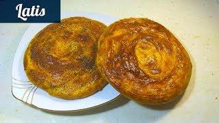 Очень хрустящий, ароматный и слоеный хлеб к завтраку
