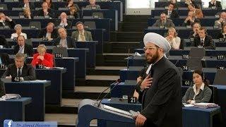 كلمة سماحة مفتي سوريا أمام البرلمان الأوروبي في افتتاحية عام الحوار بين الثقافات 15-1-2008