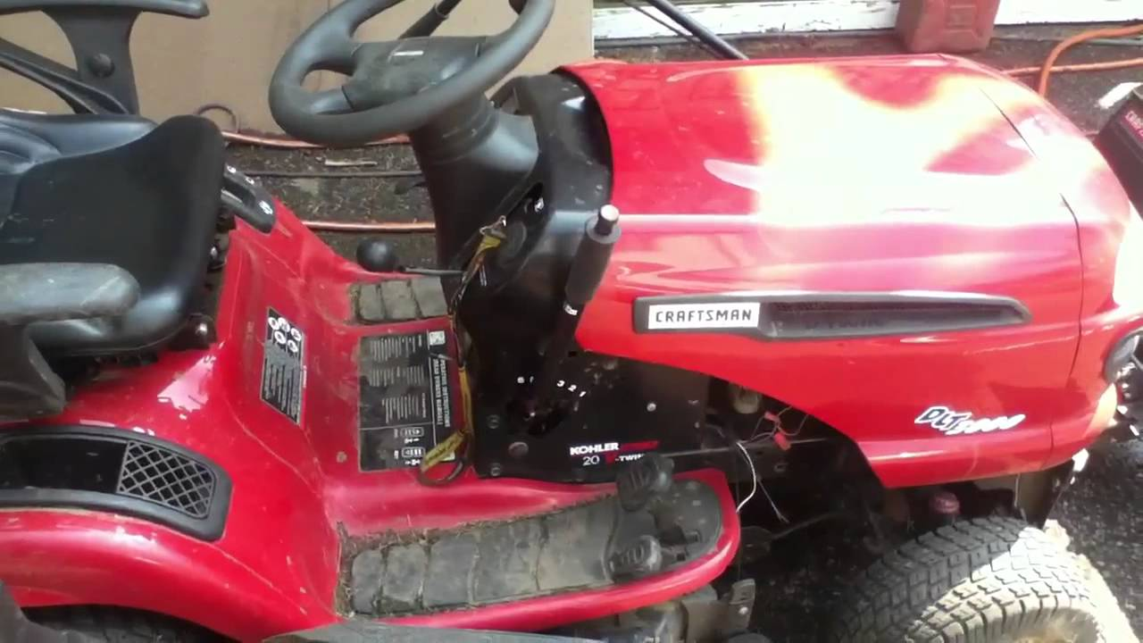 Craftsman Dlt3000 With Plow Bagger Thacher And Bagger