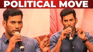 Vishal's First Political Speech on Piracy! | Sandakozhi 2