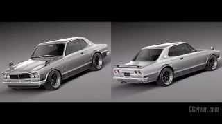 3D Model: Nissan Skyline 1968-1972 - CGriver.com