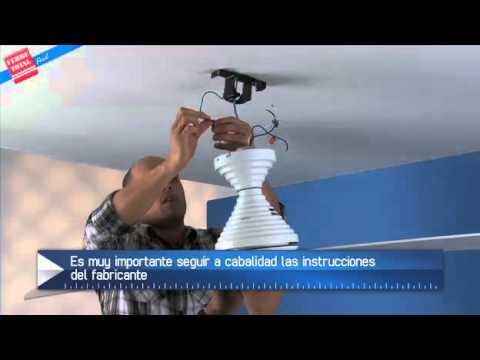 Ferretotal c mo instalar un ventilador de techo youtube for Como encielar un techo