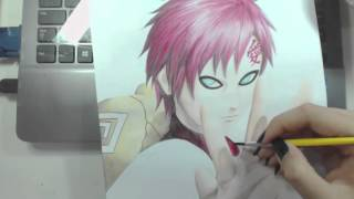 Speed Drawing - Gaara (Naruto)