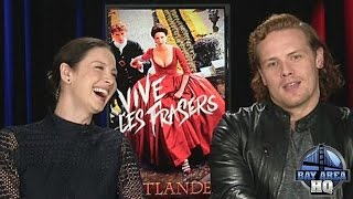 "OUTLANDER INTERVIEW ""SEX GAME"" W/  Caitriona Balfe Sam Heughan SEASON 2 FULL EPISODE CLAIRE & JAMIE"