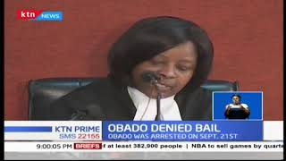 Court rejected Migori Governor Okoth Obado\'s application for bail