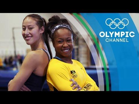 Sisterhood Fuels Jamaica's First Olympic Gymnast ToniAnn Williams  Gold Medal Entourage