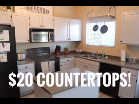 Rust-oleum Countertop Coating Review and How To - $20 DIY COUNTERTOPS