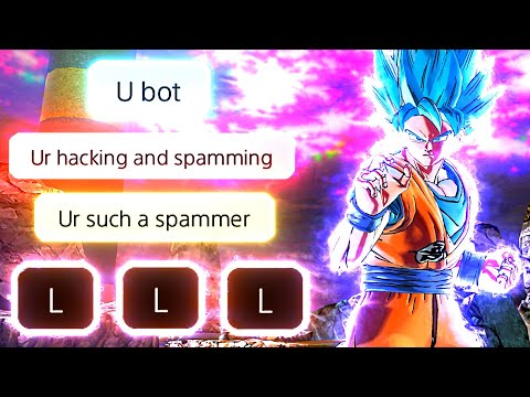 I Made A Trash Talker Give Up By Using Super Saiyan Blue Goku In Dragon Ball Xenoverse 2