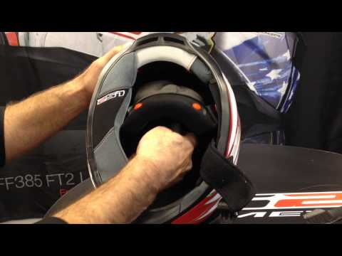 How to change top padding in an LS2 Helmet