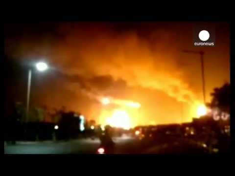 Chemical plant blast causes giant toxic explosion, China