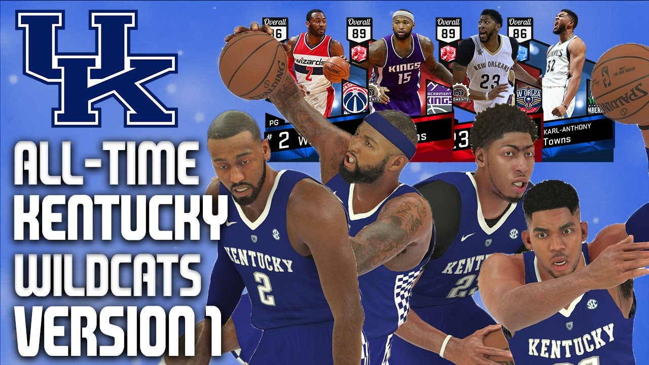 7d76b7a5448 NBA 2K17 MyTeam - All-Time Kentucky Wildcats Team Version 1 - Anthony Davis    John Wall - YouTube