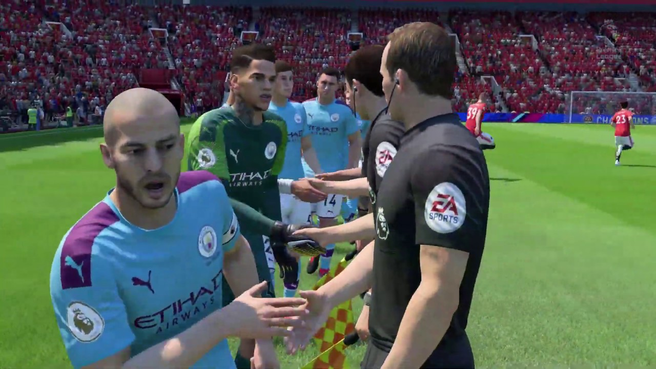 7450a8caa76 FIFA 19 Update to FIFA 20 New Kit Season 19-20 Manchester United vs  Manchester City Gameplay PC
