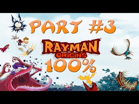 Rayman Origins - 100% Walkthrough Part #3 - Skull Tooth? Yes PLEASE! First Boss? OH YEAHH