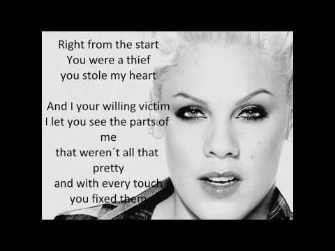 Pink ft Nate Ruess - Just Give Me A Reason (Lyrics)